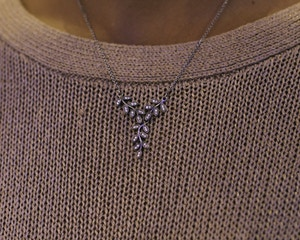 pandora leaves silver collier necklace fall 2014