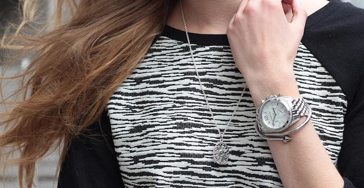 pandora necklace michael kors watch
