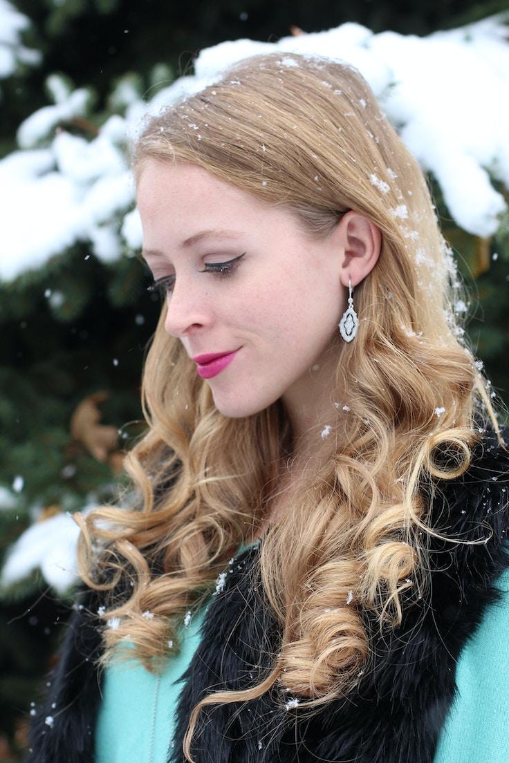 pandora sparkling lace earrings