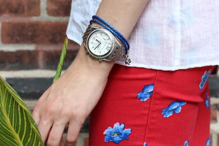 pandora summer collection blue bracelet