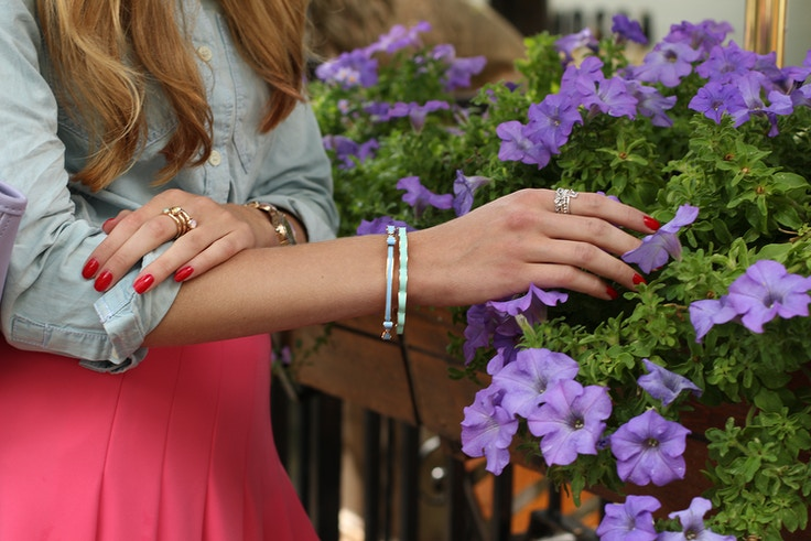 pastel bangles stacking rings