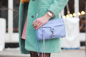 pastel colours lavender rebecca minkoff mini mac