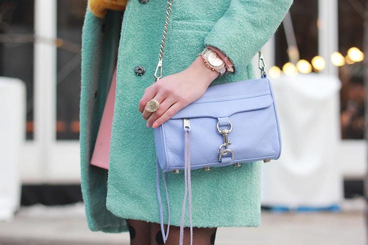 pastel colours lavender rebecca minkoff mini mac