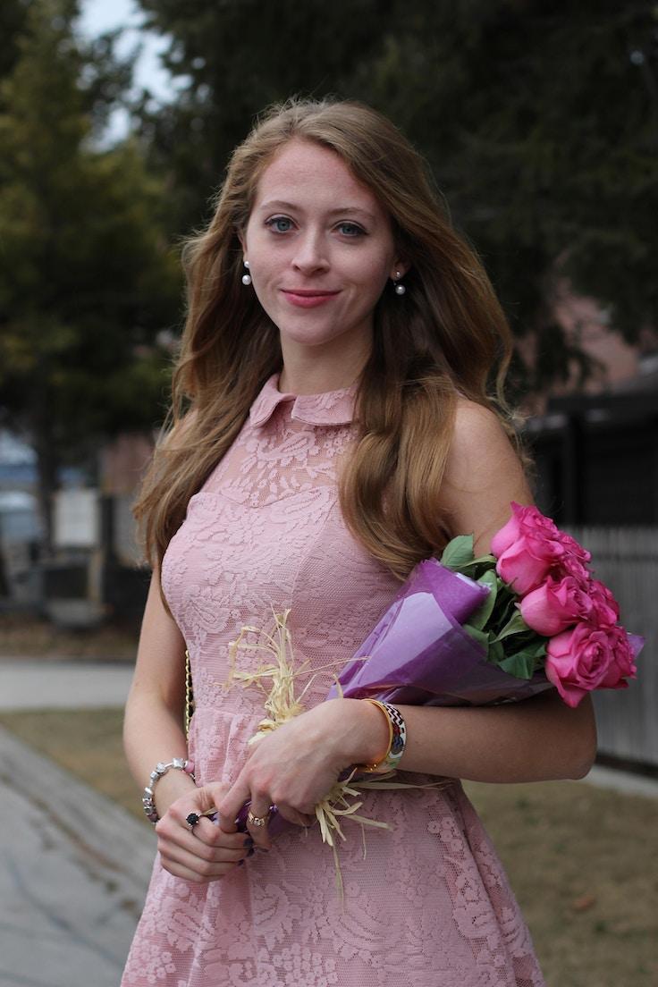 pastel pink lace dress target