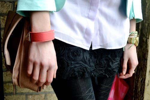 pastels coral bracelet
