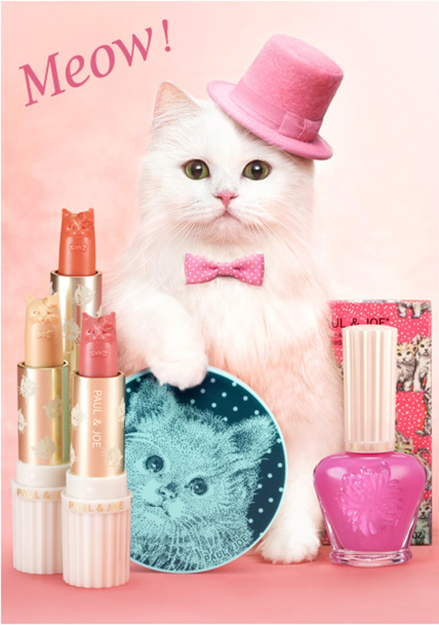 Meow! Paul & Joe Beauté Spring Makeup Campaign