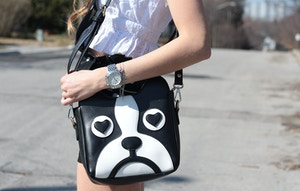 persunmall bulldog purse