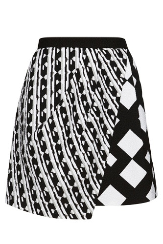 peter pilotto black and white skirt