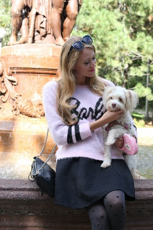 pink barbie sweater forever 21 rosie
