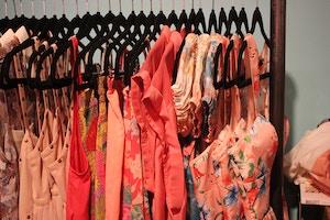 pink clothing rack