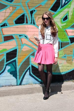 pink miranda kerr skirt
