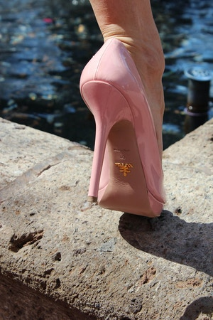 pink prada heels