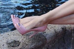 pink prada high heels