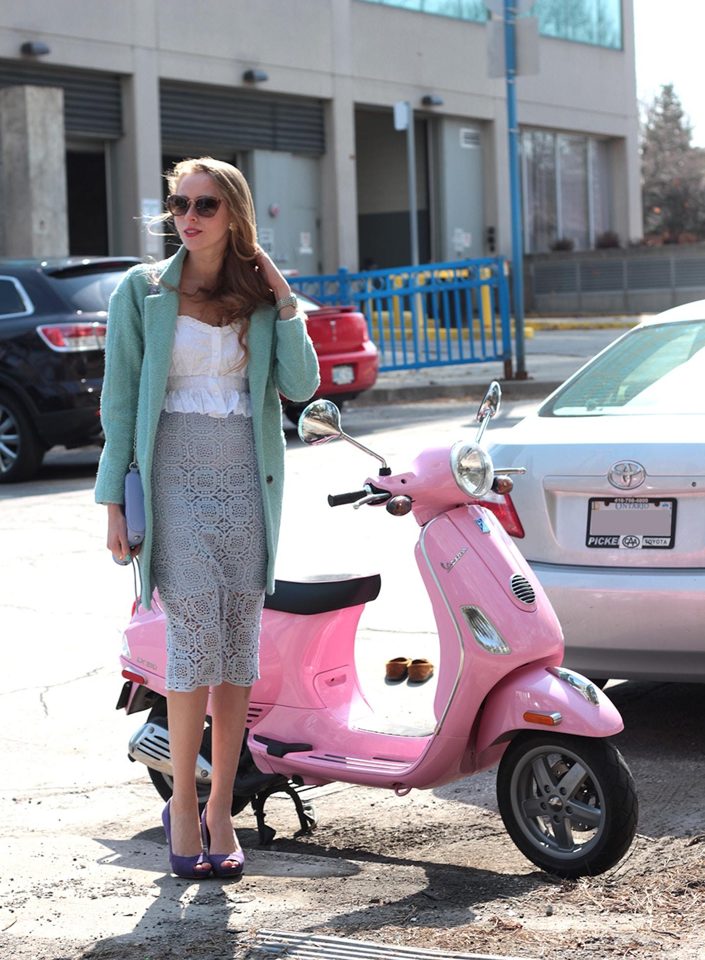 Pink Vespa: Easter pastels