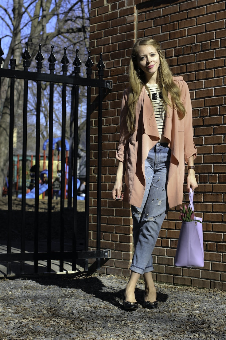 pink waterfall trench