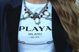 playa milano logo tshirt