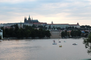 prague castle by the river