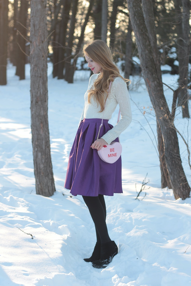 purple midi skirt chicwish