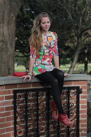 queen elizabeth stamp dress 2