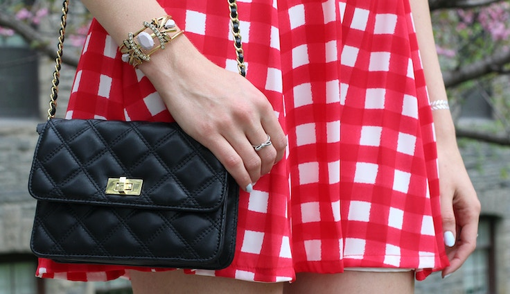 quilted black purse