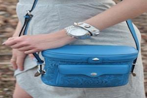rebecca minkoff collin camera bag blue laser cut