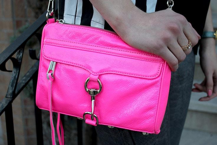 rebecca minkoff mini mac hot pink patent