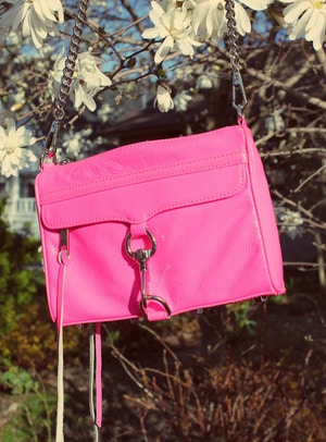 rebecca minkoff mini mac patent hot pink