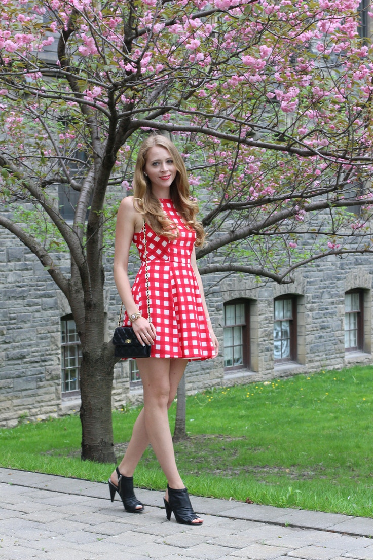 red gingham design lab dress