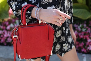 red mini emile tote Alexander Wang