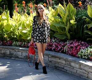 transitional outfit black and white romper