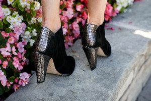 black and silver booties LAMB gwen stefani