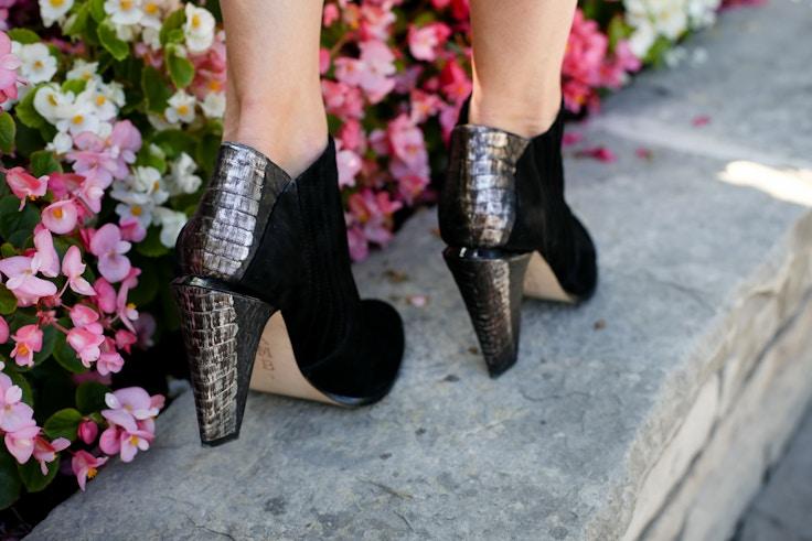 black and silver booties LAMB gwen stefani