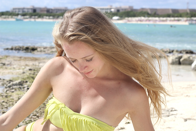 Yellow Fringe Bikini