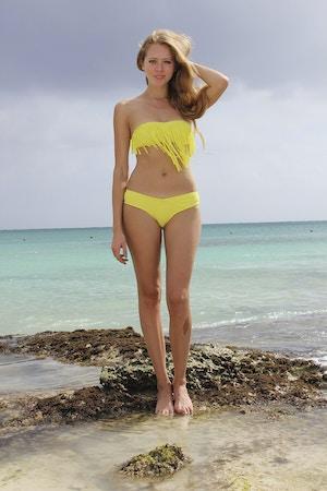 roxy fringe bikini acid yellow