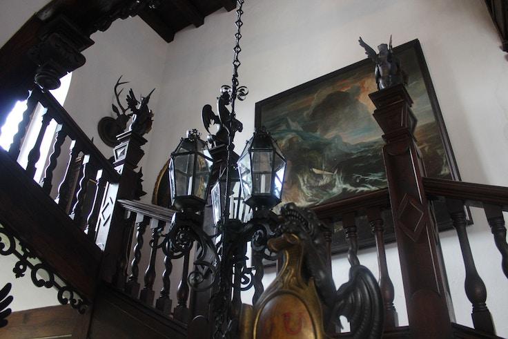 rozmberk castle tudor staircase