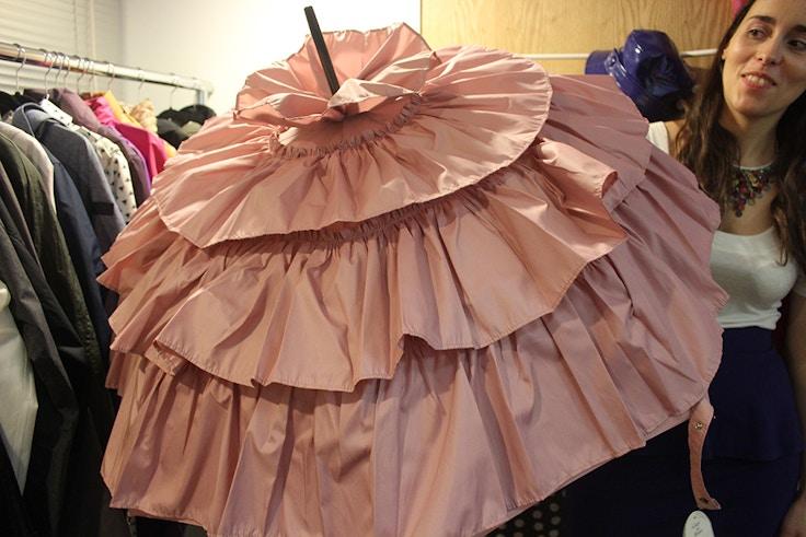 ruffle pink umbrella