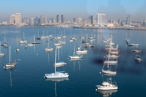 view from coronado bridge san diego bay