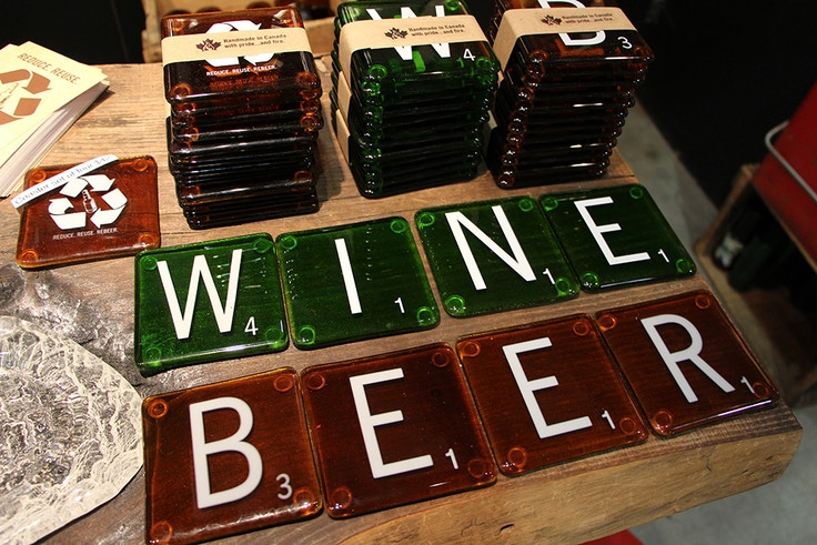 scrabble wine beer coasters