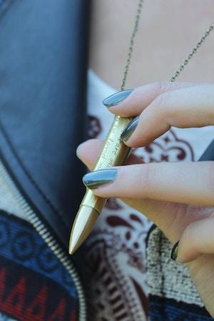 she bijou bullet necklace