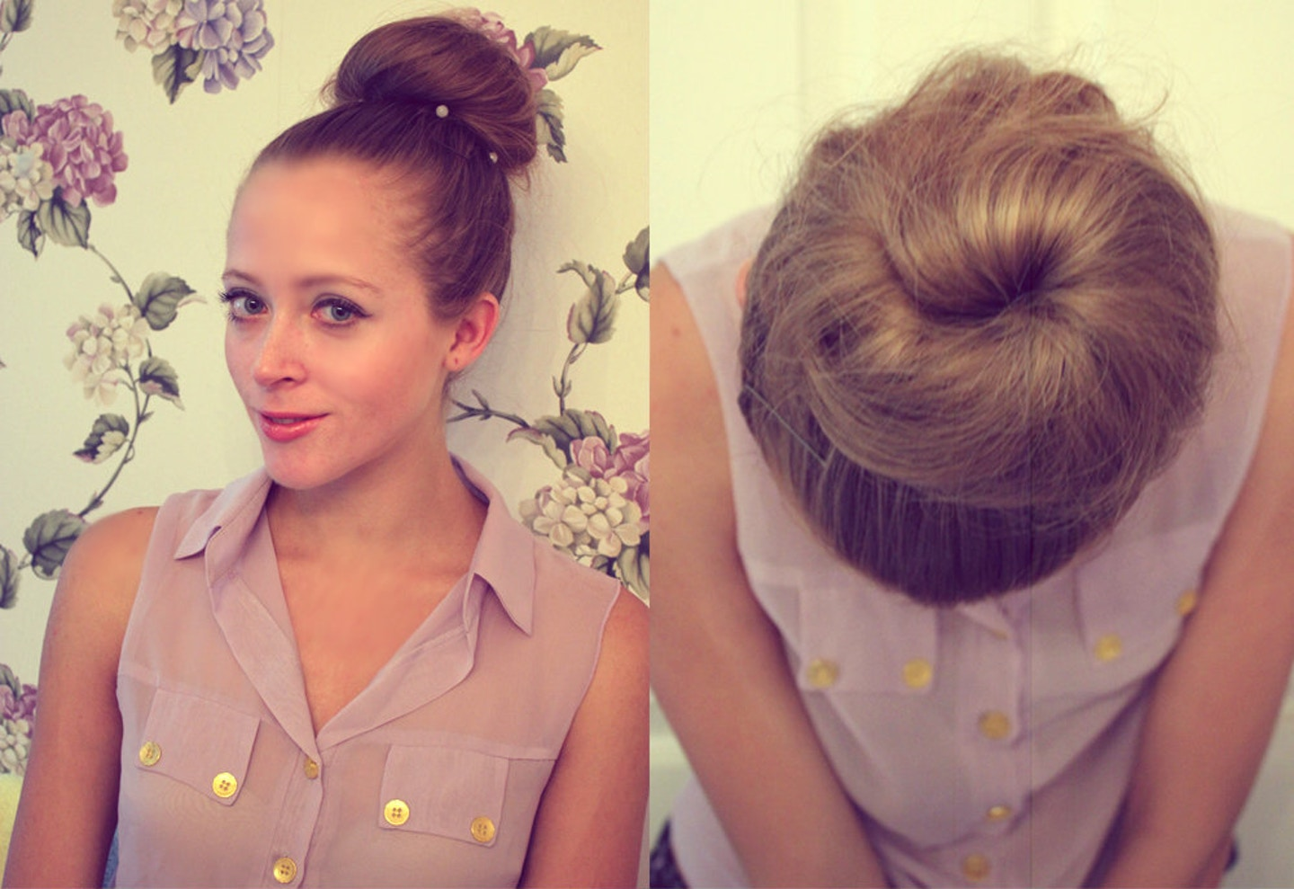 Sock Bun Tutorial for Long & Thick Hair