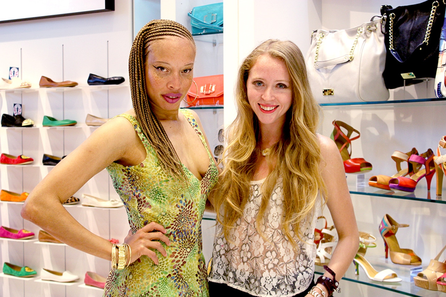 stacey mckenzie supermodel nine west store opening yorkdale mall