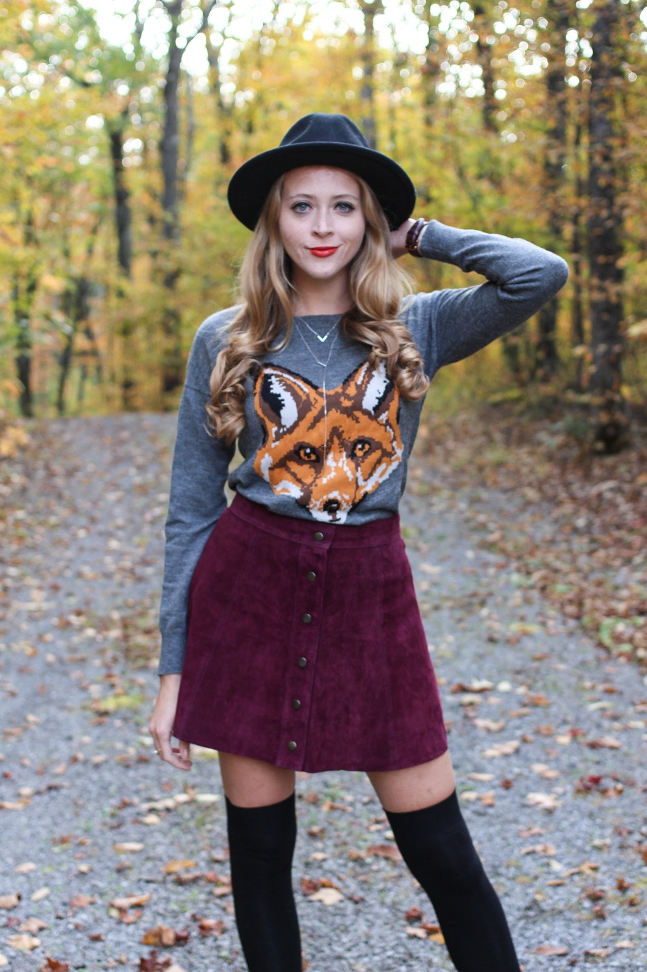 suede button skirt (4 of 5)