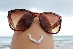 sunscreen smiley face