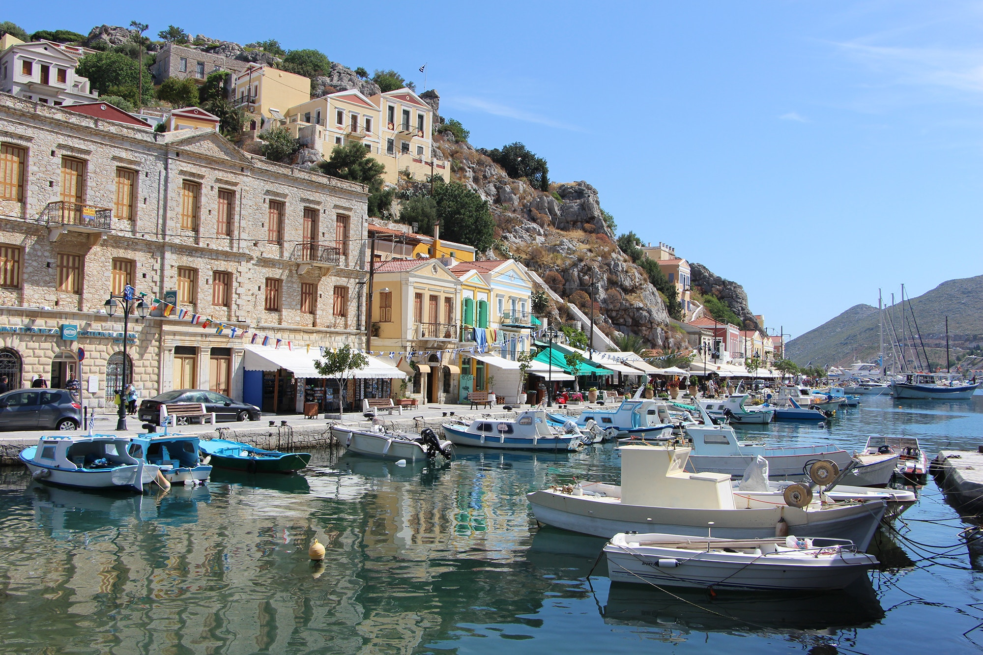symi port greece dodecanese islands