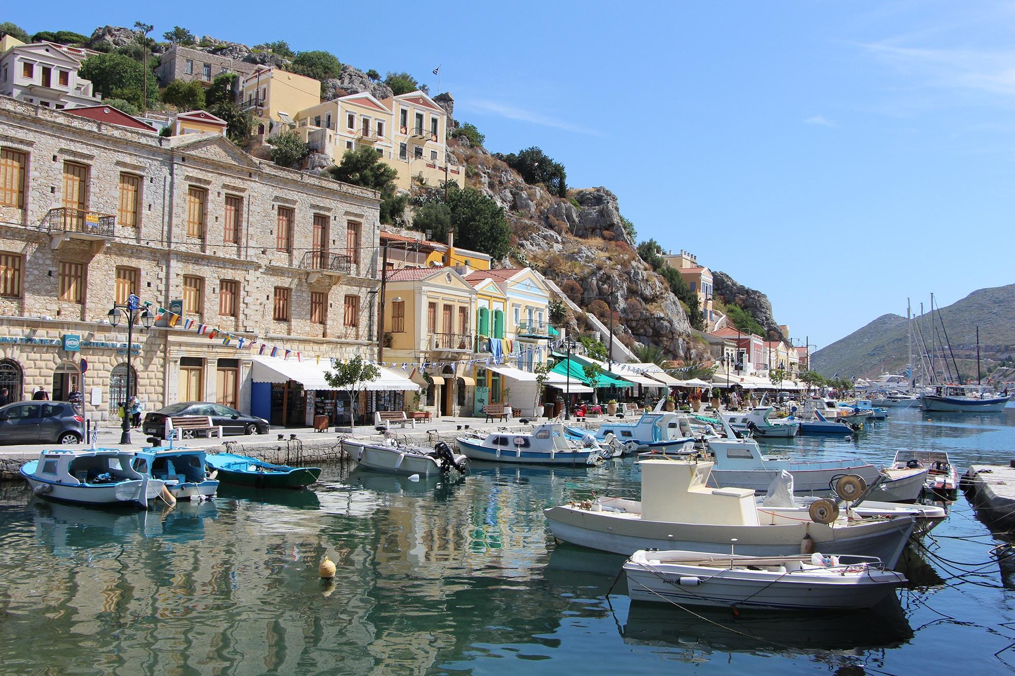 symi port greece dodecanese islands