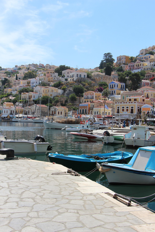 symi port greek dodecanese islands