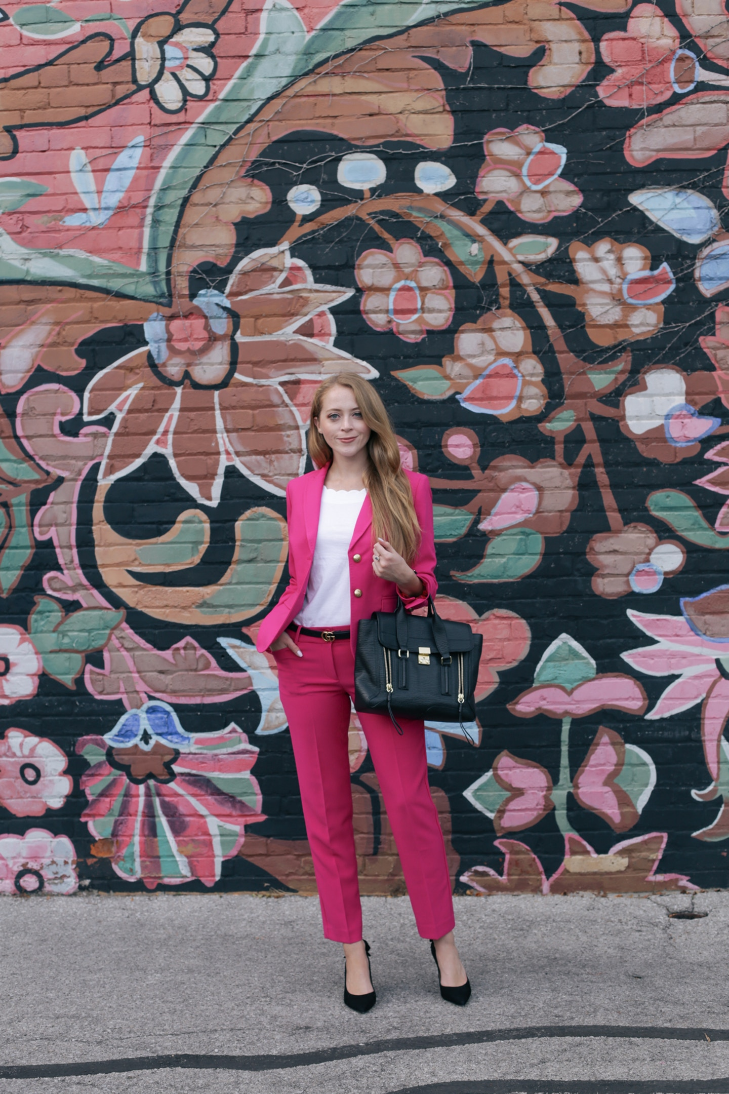 hot pink suit talbots
