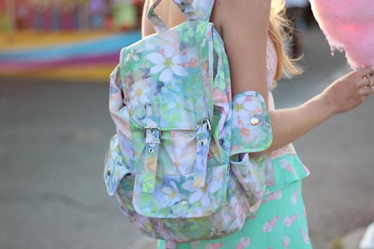 target watercolour backpack
