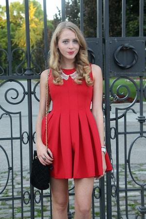 the free island red dress