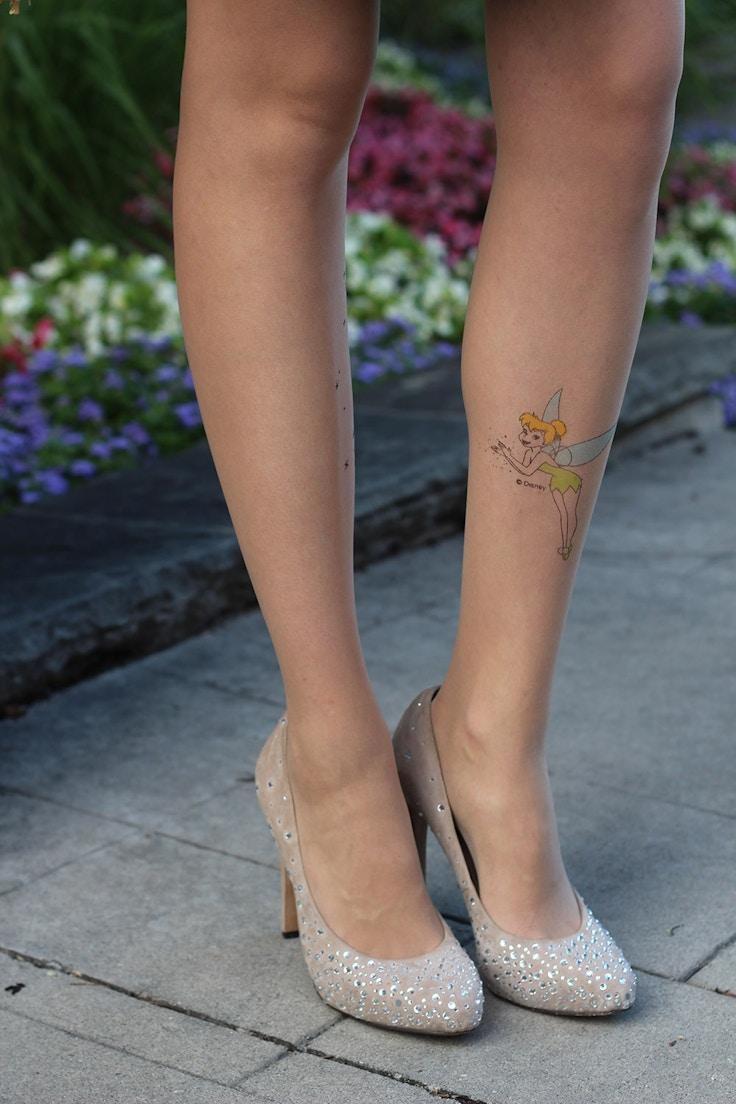 tinkerbell tattoo tights